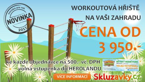 Workoutová hřiště nyní i na Vaši zahradu